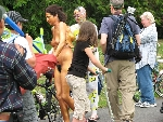 Seattle Fremont Parade Summer Solstice d'�t� nude cyclists 2008